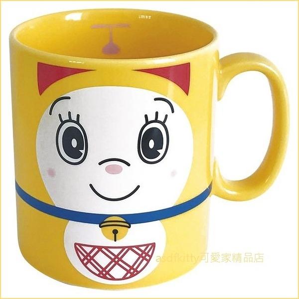 asdfkitty可愛家☆日本金正陶器 哆啦美大容量陶瓷馬克杯-可微波-500cc-日本製