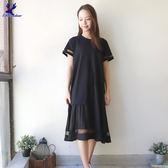 【早秋新品】American Bluedeer - 網紗拼接洋裝(魅力價) 秋冬新款