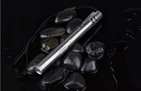 【SG276】白金手電筒(黃光) 鋁合金筆型充電手電筒 usb迷你充電手電筒 不銹鋼強光超亮手電