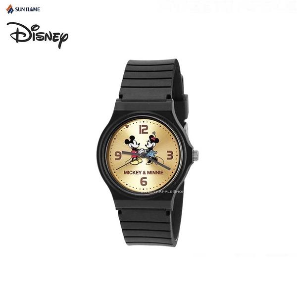 日本正版限定 SUN FLAME 迪士尼 米奇&米妮 時尚腕錶 / 手錶