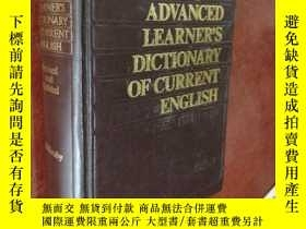 二手書博民逛書店OXFORD罕見ADVANCED LEARNER'S DICTIONARY OF CURRENT ENGLISH。