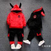 男寶寶秋裝套裝0一1-2-3歲韓版潮男童4金絲絨5兒童帥氣兩件套6歲