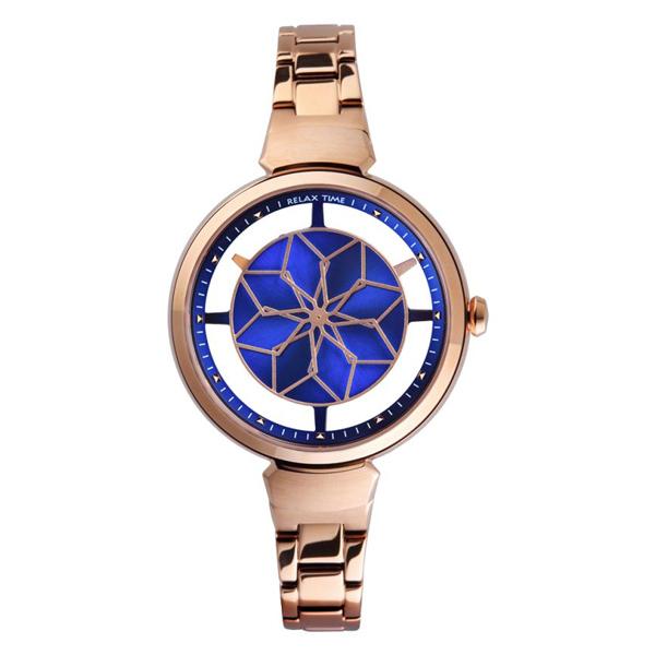 Relax Time 年度部落客推薦錶款 簡約 鏤空 玫瑰金/RT-63-6 女錶 藍面/玫瑰金/36mm