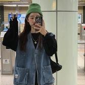 韓版2020年春秋新款寬鬆外搭上衣女外穿百搭牛仔背心學生馬甲外套 【ifashion·全店免運】
