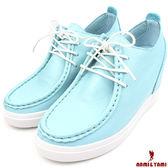 【Nami&Yami】㊣正韓空運✈秘密內增高艷彩綁帶運動鞋(藍)