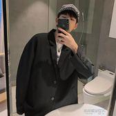 西裝外套男秋冬西裝外套男韓版潮新款單西寬鬆休閒西服港風chic上衣  凱斯盾數位3c