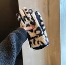 保暖手套 心心念念的防寒保暖手套豹紋高顏值女士款冬天加絨可觸屏