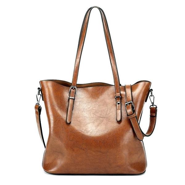 秋夏新款水桶女包歐美簡約大包單肩斜背包女士手提包 至簡元素