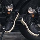 2020夏季新款高筒馬丁靴男潮英倫風工裝靴韓版百搭休閒中筒鞋皮靴 蘿莉小腳丫