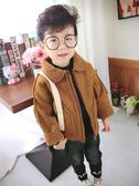 兒童加絨外套寶寶加厚夾克男童洋氣風衣裝韓版潮帥 童趣潮品