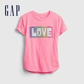 Gap女童 可愛雙面亮片短袖T恤 681261-玫瑰粉