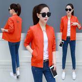 外套 短外套女2020春秋新款開衫薄夾克韓版加厚寬鬆時尚休閒學生棒球服