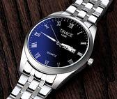 男士手錶 潮流時尚韓版夜光石英表鋼帶防水情侶手錶簡約運動男表 莎瓦迪卡