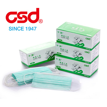 【中衛】醫療口罩鬆緊式-綠色 (50片) CSD Medical Mask