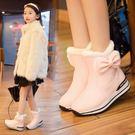 女童靴子韓版加絨防水兒童雪地靴寶寶鞋公主短靴 蘇迪蔓