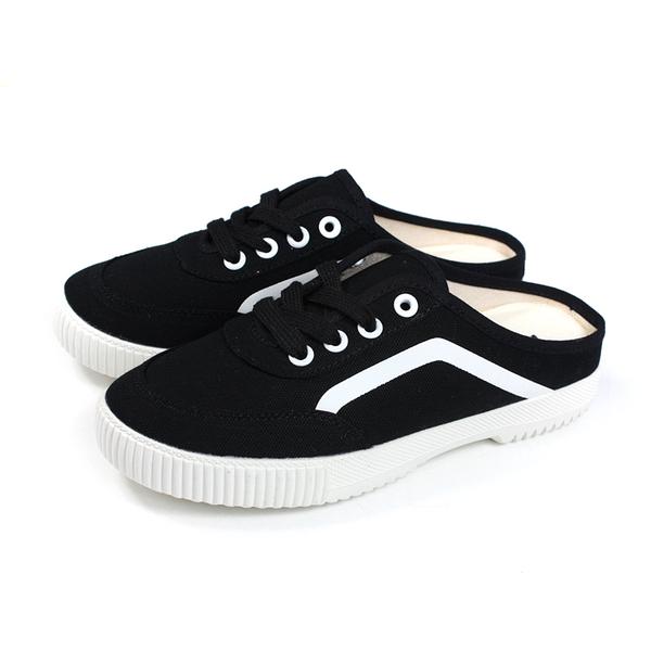 KANGOL 休閒鞋 前包後空 女鞋 黑色 6022200320 no067