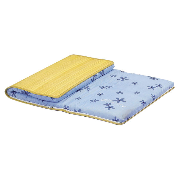 【森可家居】可拆洗兩用3尺單人透氣薄床墊 8SB106-8 另一面涼蓆 厚3CM