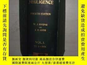 二手書博民逛書店1928年原版罕見Negligence in Law, 第 1