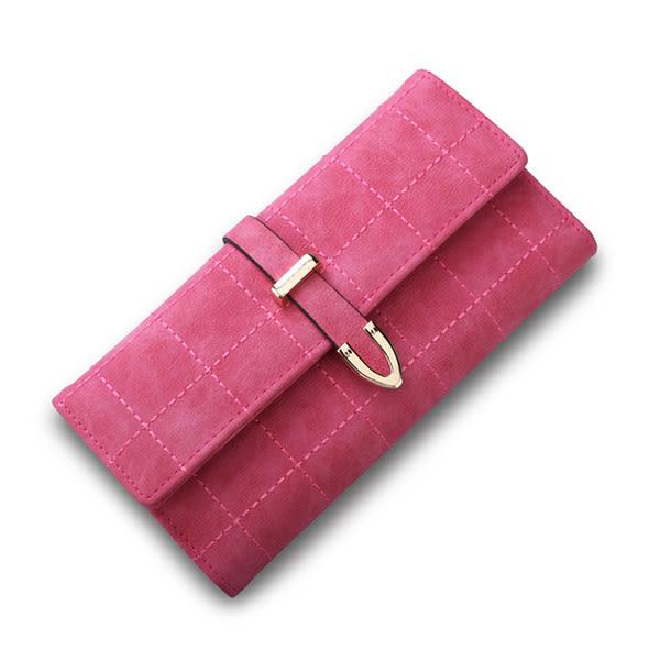 長夾 新款韓版復古線繡三折長皮夾 手機錢包 共5色 H2053-寶來小舖-現貨販售