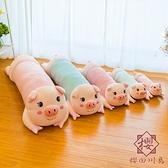 趴趴豬公仔可愛睡覺抱枕超軟【櫻田川島】