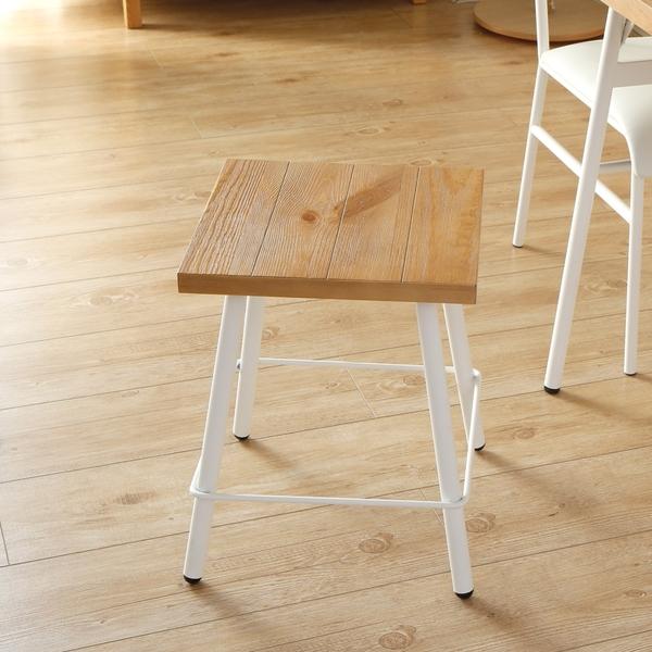日系工業風方型原木腳凳/椅凳/H&D東稻家居