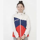 CHUMS 日本 女 拼色防風外套 白 CH141056W001