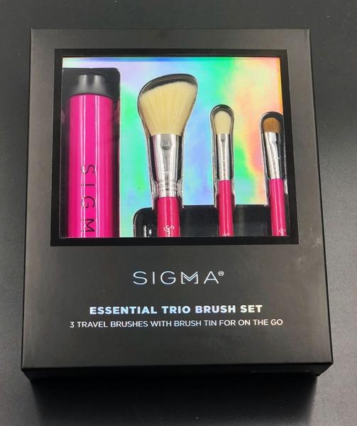 Sigma ESSENTIAL TRIO BRUSH SET 旅行刷具組 三件刷具組+刷具收納盒【愛來客】美國經銷商