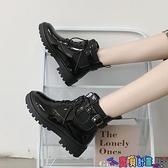 馬丁靴 馬丁靴女冬加絨英倫風2021年新款百搭瘦瘦機車短靴潮女鞋子 寶貝計畫
