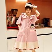 夏季睡裙純棉睡衣女士薄款短袖可愛日系櫻桃小丸子孕婦家居服夏天 【快速出貨】