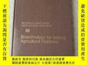 二手書博民逛書店Biotechnology罕見for Solving Agric