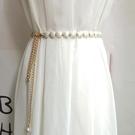腰鏈 腰封 新品貝殼形細女白色韓版百搭裝飾連身裙 腰帶簡約配毛衣時尚  店慶降價