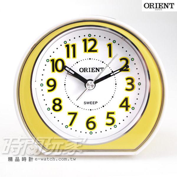 ORIENT 東方錶 連續秒針/靜音秒針 簡約雙色 電子音 數字鬧鈴 鬧鐘 貪睡 AQ-346黃