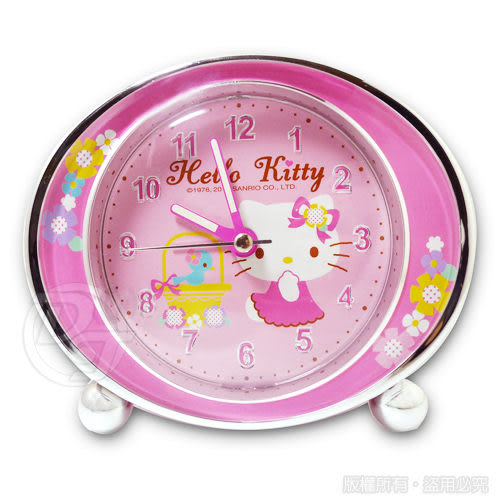 《一打就通》Hello Kitty 夢幻花樣超靜音貪睡鬧鐘 JM-E346KT-P