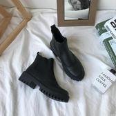 短靴 中筒機車切爾西靴歐美短靴女啞光厚底馬丁靴潮單靴 小艾時尚