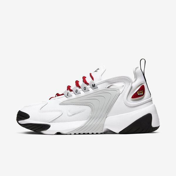 Nike Zoom 2K [AO0354-107] 女鞋 運動 休閒 慢跑 健身  氣墊 避震 球鞋 穿搭 情侶 白灰