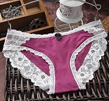 女士中高腰蕾絲大碼內褲 網紗收腹提臀女內褲蕾絲性感透明女內褲6入-vim