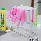 不銹鋼廚房抹布架晾曬架桌面毛巾架瀝水防銹折疊收納架