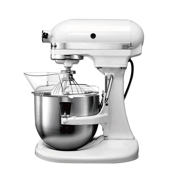 【Kitchen Aid】4.8公升升降式桌上型攪拌機-經典白(透明防濺罩需另購)