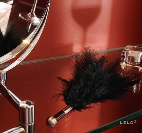 買送贈品免運送潤滑液 瑞典LELO-TANTRA FEATHER TEASER天嬌羽毛挑逗棒-黑 SM精品按摩棒