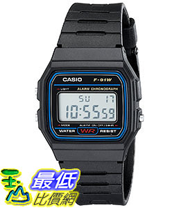 [出清價只有1個]  Casio 7 Year Battery Chronograph Watch,Low Ship, F91W-1( _T01)
