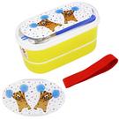 棕熊款【日本進口正版】Pokefasu x Plust 日本製 雙層便當盒 餐具三件組 千葉純一 - 161664