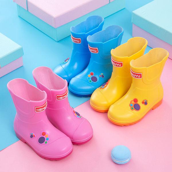 兒童雨鞋 男童女童寶寶雨靴 水鞋膠鞋防滑公主可愛學生水靴 全館八折柜惠