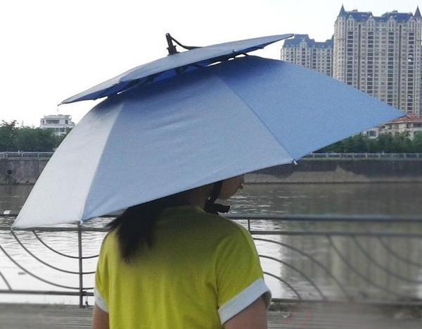 傘帽 雨傘帽 透氣 天窗 雨傘帽 雙層雨傘帽 防紫外線太陽傘