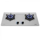(全省原廠安裝)(能源效率2級)林內 RB-F219G(Y) (沈穩灰) 強化玻璃 檯面式LOTUS二口爐 LED旋鈕