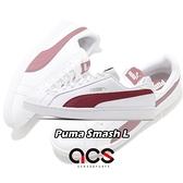 Puma 休閒鞋 Smash L 男鞋 女鞋 白 紅 基本款 板鞋 彪馬 情侶鞋 運動鞋【ACS】 35672223