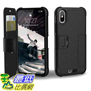 [8美國直購] URBAN ARMOR GEAR UAG Folio iPhone Xs/X Metropolis Feather-Light Rugged [Black] Military Drop Tested iPhone Case