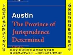 二手書博民逛書店Austin:罕見The Province Of Jurisprudence DeterminedY25556