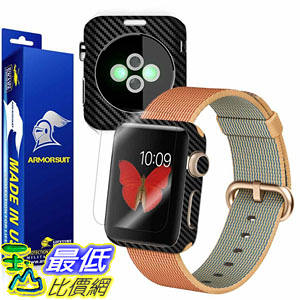 [106美國直購] 保護膜 ArmorSuit MilitaryShield for Apple Watch 42mm Screen Protector (Series 2)