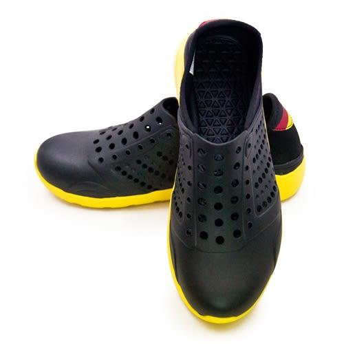 LIKA夢 LOTTO 排水透氣潮流洞洞休閒鞋 涼、拖鞋 LIFESTYLE 2 黑黃 6750 女