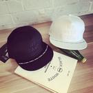平沿帽 韓 刺繡 立體 字母 情侶款 休閑 黑白色 棒球帽 嘻哈帽 帽子 鴨舌帽 嘻哈帽 街舞帽
